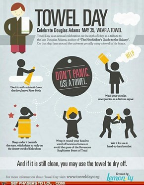 Hitchhiker's Guide to the Galaxy - Happy Towel Day!