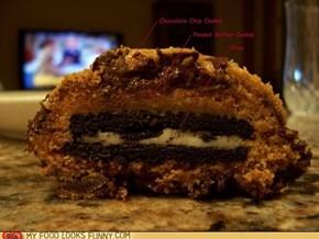 Peanut Butter Chocolate Chip Oreo Cookieception