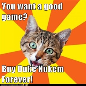 You want a good game?  Buy Duke Nukem Forever!