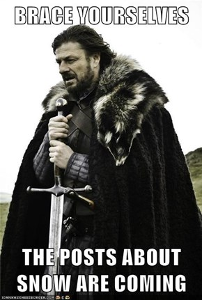 BRACE YOURSELVES   THE POSTS ABOUT SNOW ARE COMING