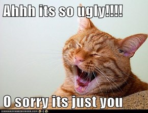 Ahhh its so ugly!!!!   O sorry its just you