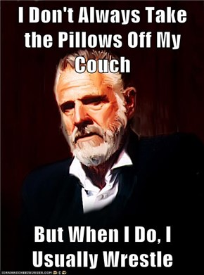 I Don't Always Take the Pillows Off My Couch  But When I Do, I Usually Wrestle