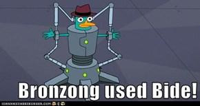 Bronzong used Bide!
