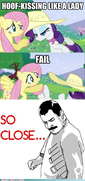 Hoof-kissing FAIL