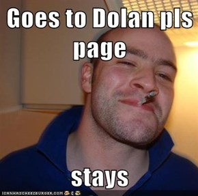 Goes to Dolan pls page  stays