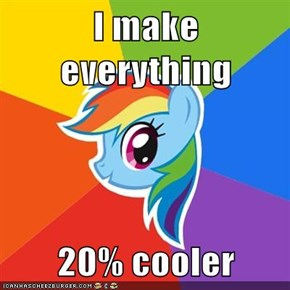 I make everything  20% cooler