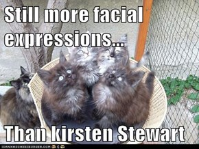 Still more facial expressions...  Than kirsten Stewart