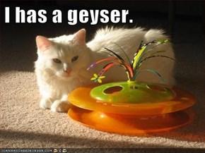 I has a geyser.