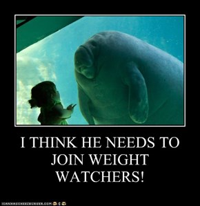 I THINK HE NEEDS TO JOIN WEIGHT WATCHERS!