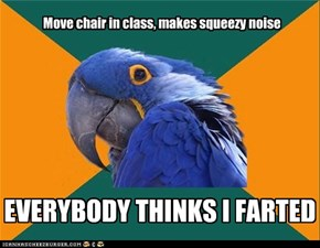 Paranoid Parrot: Quick, Make the Noise Again!