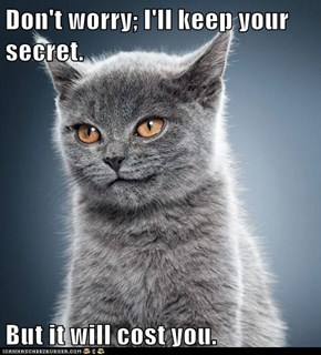Don't worry; I'll keep your secret.  But it will cost you.