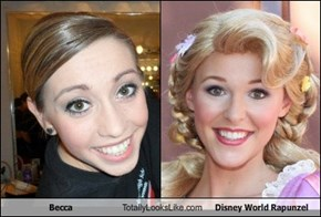 Becca Totally Looks Like Disney World Rapunzel
