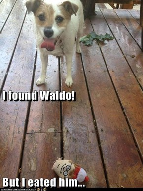 I found Waldo!  But I eated him...