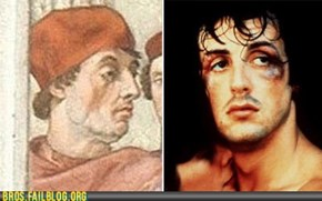 "Time-Travelling Sylvester ""Raphael"" Stallone"