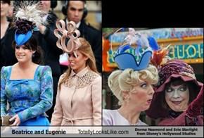 Beatrice and Eugenie Totally Looks Like Dorma Nesmond and Evie Starlight from Disney's Hollywood Studios