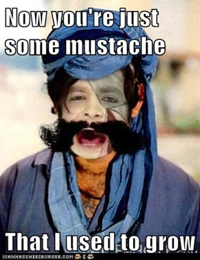 Now you're just some mustache  That I used to grow