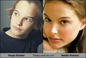 Fergus Riordan Totally Looks Like Natalie Portman