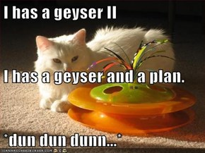 I has a geyser II I has a geyser and a plan. *dun dun dunn...*