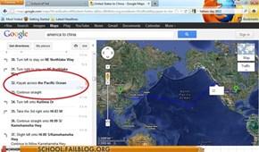 Geography 101: Personally I'd Prefer a Jetski