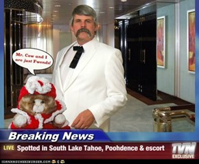 Breaking News - Spotted in South Lake Tahoe, Poohdence & escort