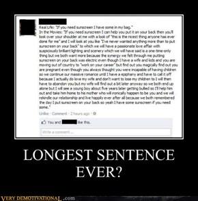 LONGEST SENTENCE EVER?