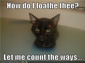 How do I loathe thee?  Let me count the ways...