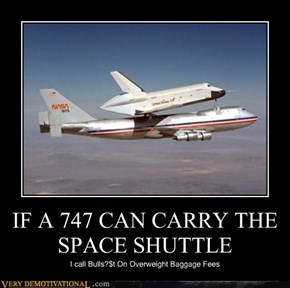 IF A 747 CAN CARRY THE SPACE SHUTTLE