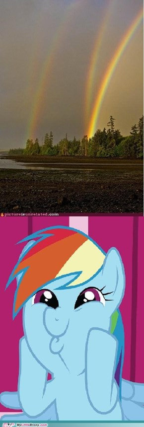 Rainbow Dash is leaking into the real world