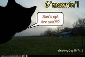 Stop yer moanin'!