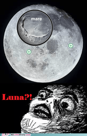 Luna is mare on moon... found during school