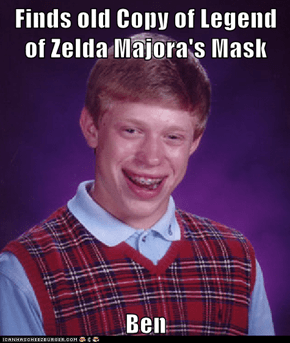 Finds old Copy of Legend of Zelda Majora's Mask  Ben