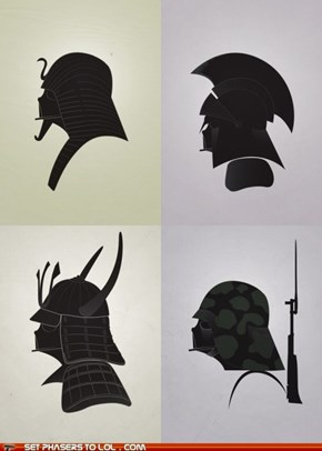 Star Wars - Darth Vader as Warriors from History
