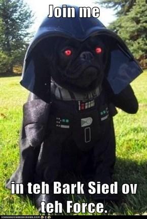 Join me  in teh Bark Sied ov teh Force.