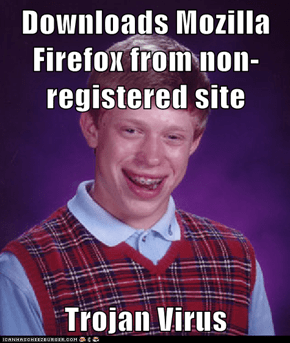 Downloads Mozilla Firefox from non-registered site  Trojan Virus