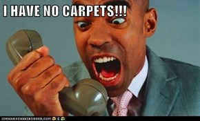I HAVE NO CARPETS!!!