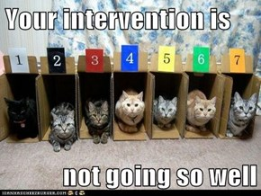 Your intervention is  not going so well