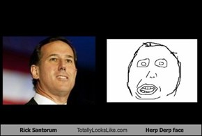 Rick Santorum Totally Looks Like Herp Derp face