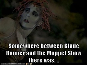 Somewhere between Blade Runner and the Muppet Show there was....