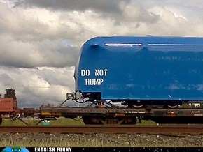 One Does Not Simply Hump a Train...