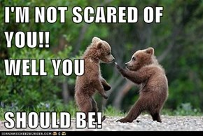 I'M NOT SCARED OF YOU!! WELL YOU SHOULD BE!