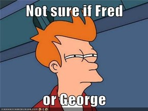 Not sure if Fred  or George