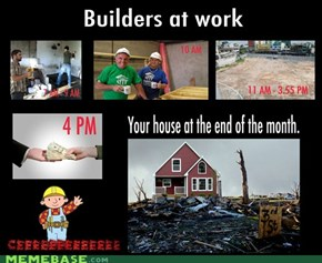 Builders at work