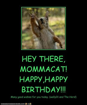 HEY THERE, MOMMACAT!  HAPPY,HAPPY BIRTHDAY!!!
