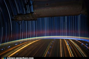 Star Trails of the International Space Station!