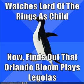 Watches Lord Of The Rings As Child  Now, Finds Out That Orlando Bloom Plays Legolas