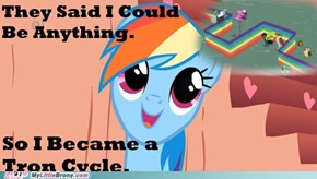 Rainbow Dash Loves Tron