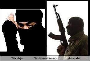 This ninja Totally Looks Like this terorist