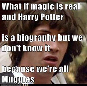 What if magic is real and Harry Potter is a biography but we don't know it because we're all Muggles