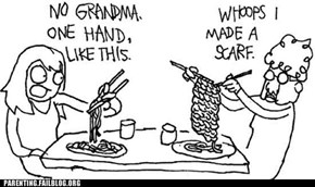Grandma Uses Chopsticks