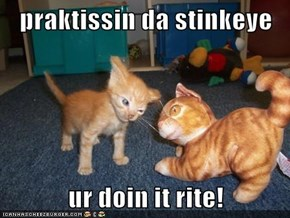 praktissin da stinkeye  ur doin it rite!
